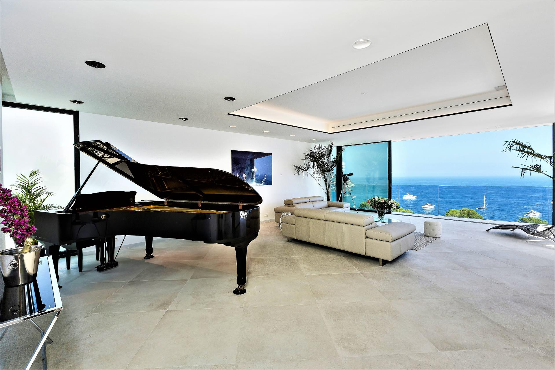 A PIANO IS AT YOUR DISPOSAL IN VILLA INFINITY HOLIDAY RENTAL