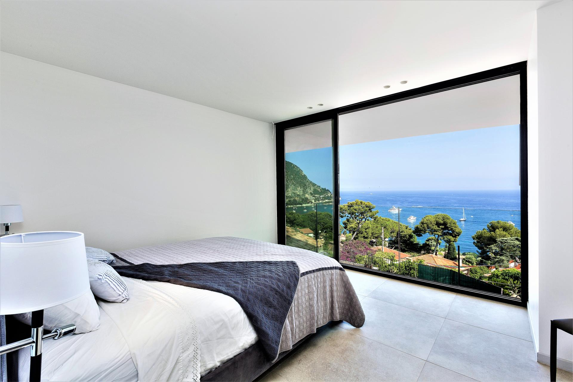 AMAZING SEA VIEWS FROM A BEDROOM IN A HOLIDAY RENTAL IN EZE