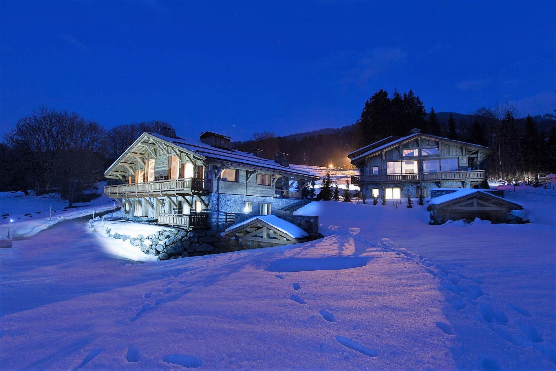 CHALET DES CHOZEAUX BY NIGHT IN MEGEVE
